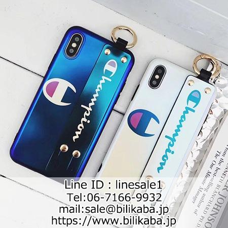 チャンピオン iphonexs maxカバー 持ちやすいベルト