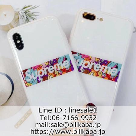 supreme iphone xs maxケース 背面ガラス
