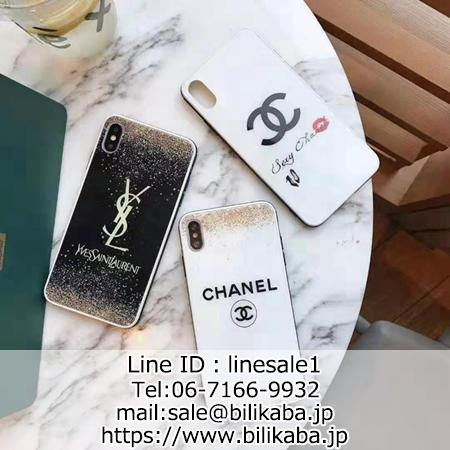 ラメ入り CHANEL YSL iPhone11 pro maxケース