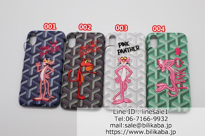 ゴヤール iphoneXケース ピンクパンサー刺繍