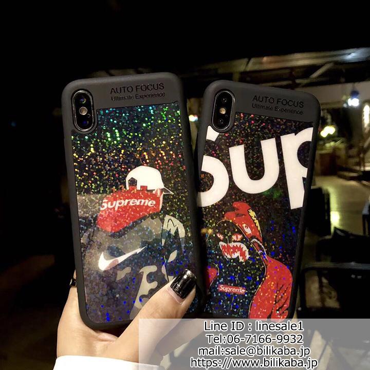 supreme iphoneXケース ストリート系