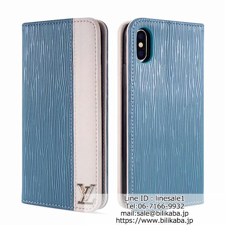 手帳型 iphoneXケース LV