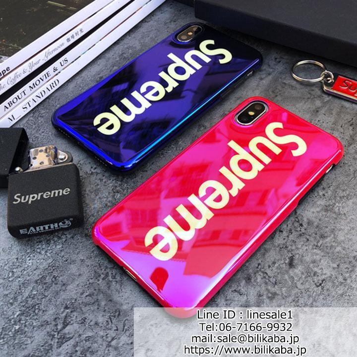 シュプリーム iphone8plusカバー 鏡面効果