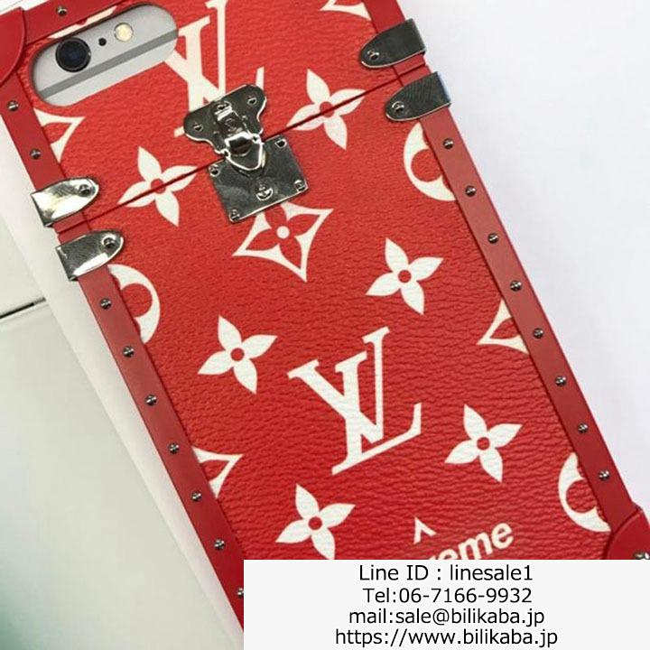 Supreme LV iphone8plusケース 海外 輸入
