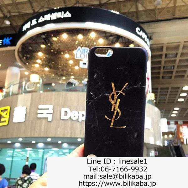 イヴサンローラン iphoneX ケース ジャケット型 大理石柄