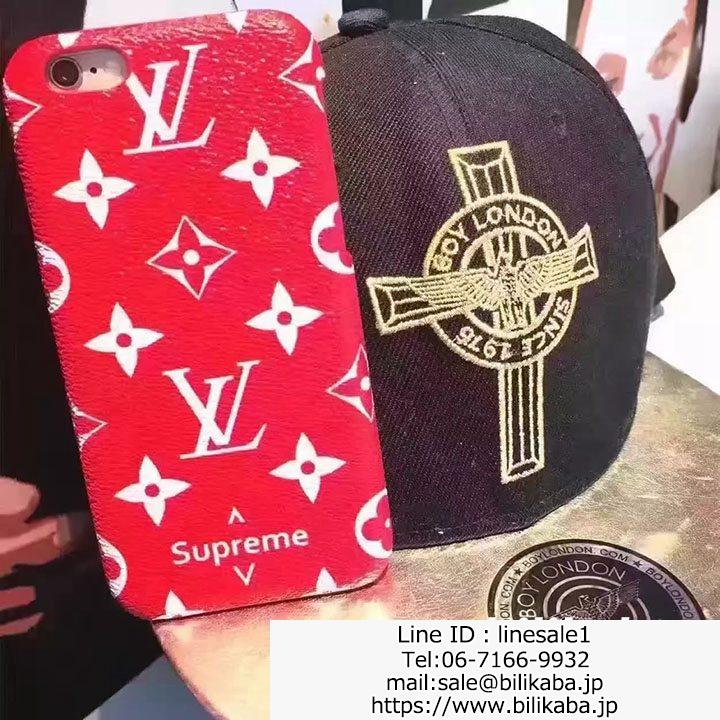 lv supreme iphone8plusケース