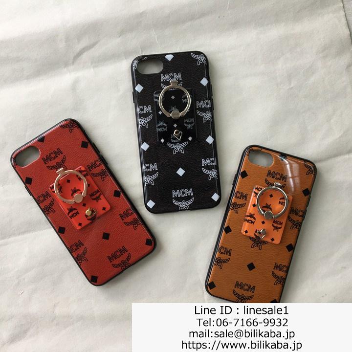 エムシーエム iphone8ケース リング付き