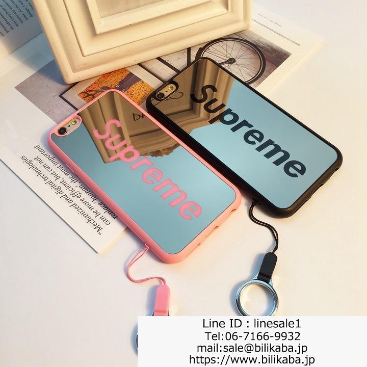 supreme iphonex ケース 鏡面 ペア用