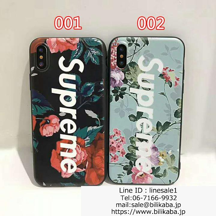 supreme iphone8ケース花柄