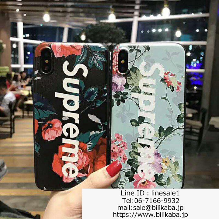 supreme iphoneXケース花柄