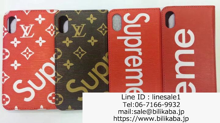 supreme lv iphone8plusケース手帳
