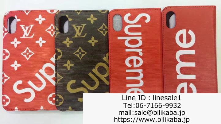 supreme lv iphone8ケース手帳