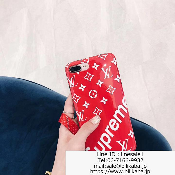 supreme x lv iphone7plusケース シリコン