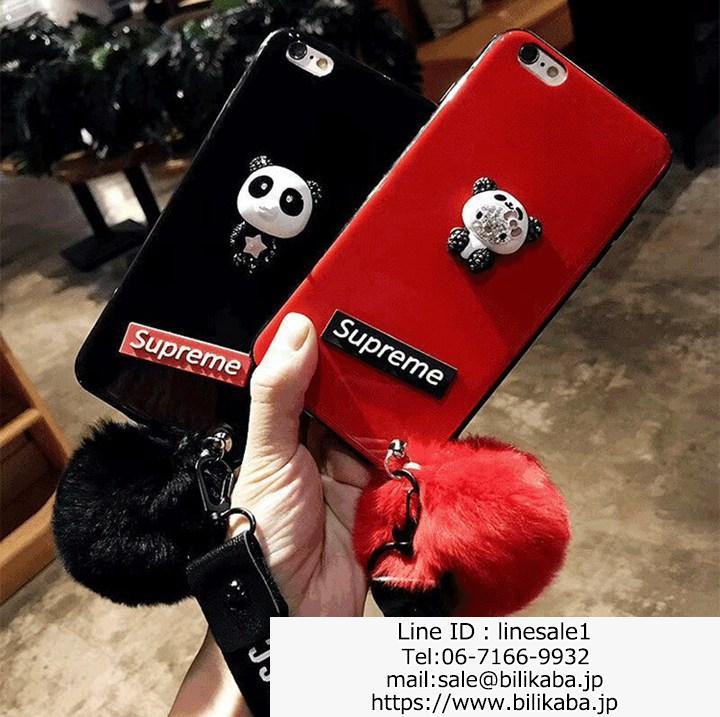 supreme iphoneXケース可愛いパンダ