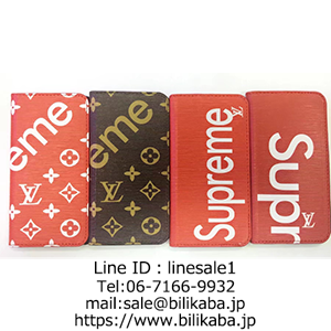 supreme lv iphone8ケース手帳