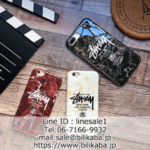 stussy iphone8ケース大理石モチーフ